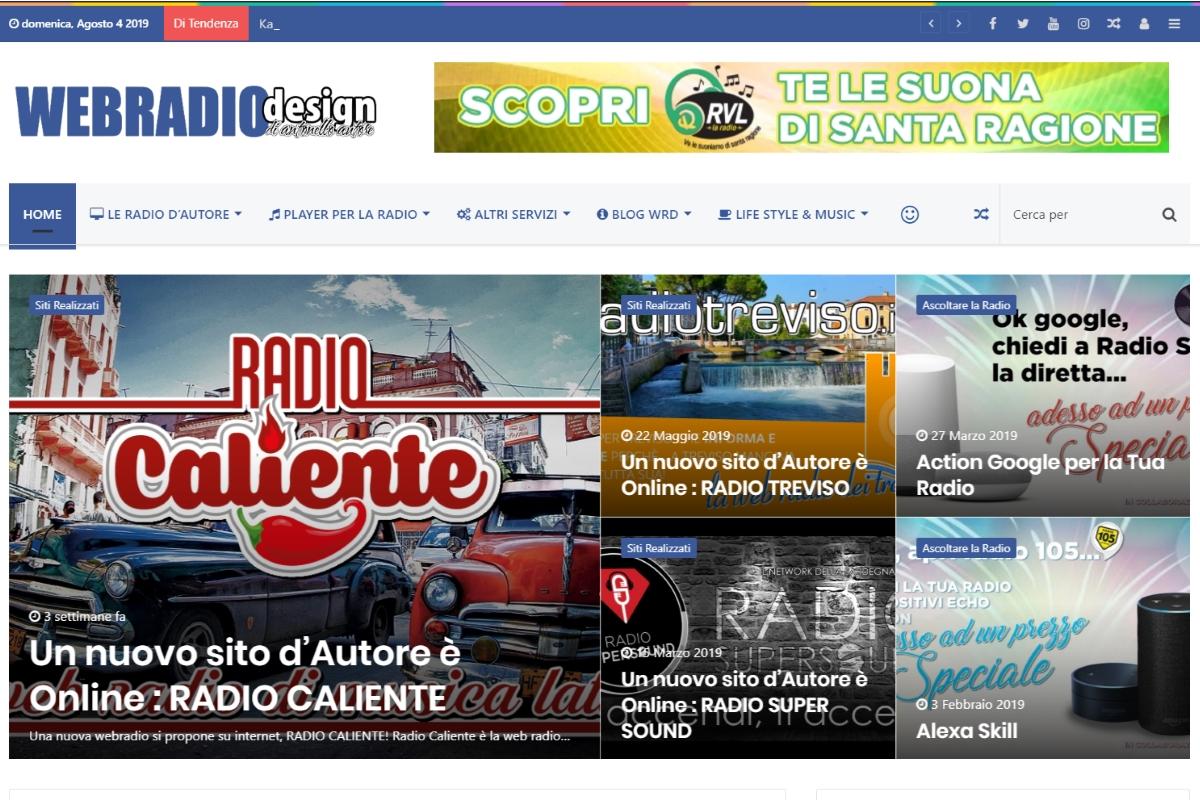 La Homepage di Web Radio Design